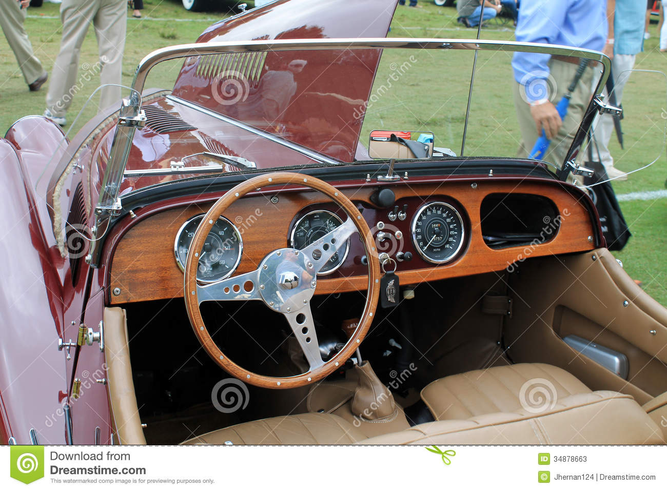 classic british sports car interior editorial stock photo image 34878663. Black Bedroom Furniture Sets. Home Design Ideas