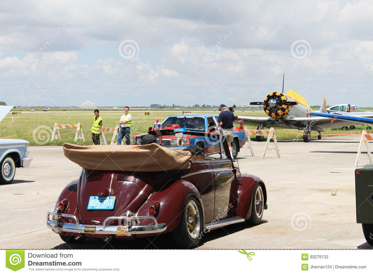 Classic bug being driven editorial photography  Image of
