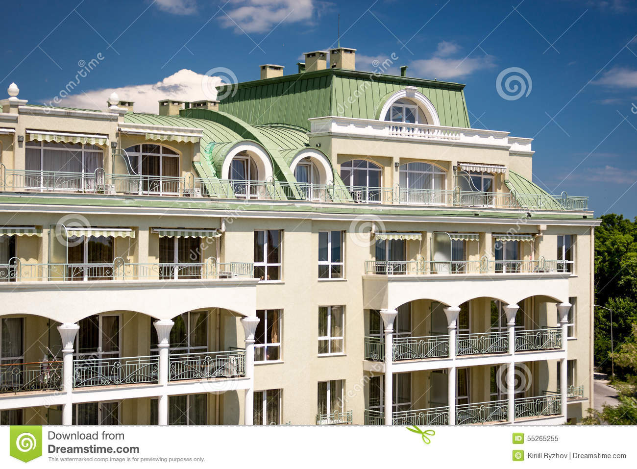 Elegant classic building facade stock photo for Classic builders
