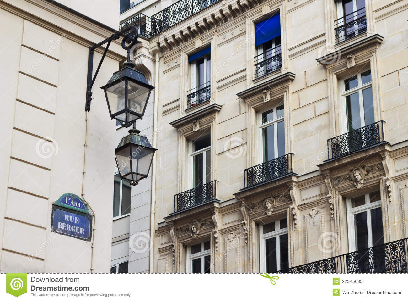 Classic building in paris france royalty free stock photo for Classic builders