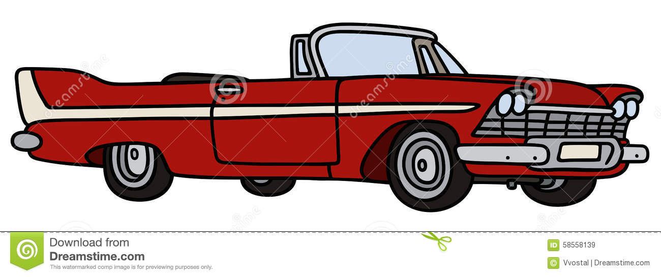 Classic cabriolet stock vector illustration of for American classic realty