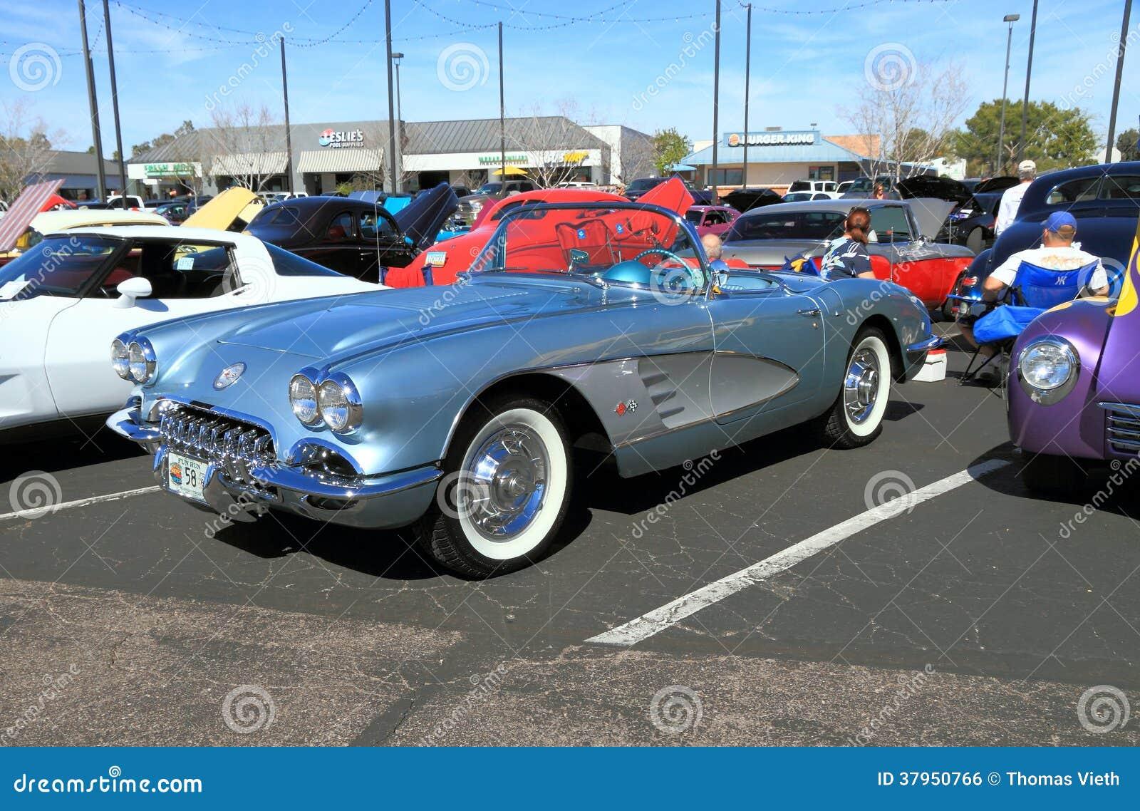 Classic Car Chevrolet Corvette Convertible Editorial Photo - Thomas chevrolet car show