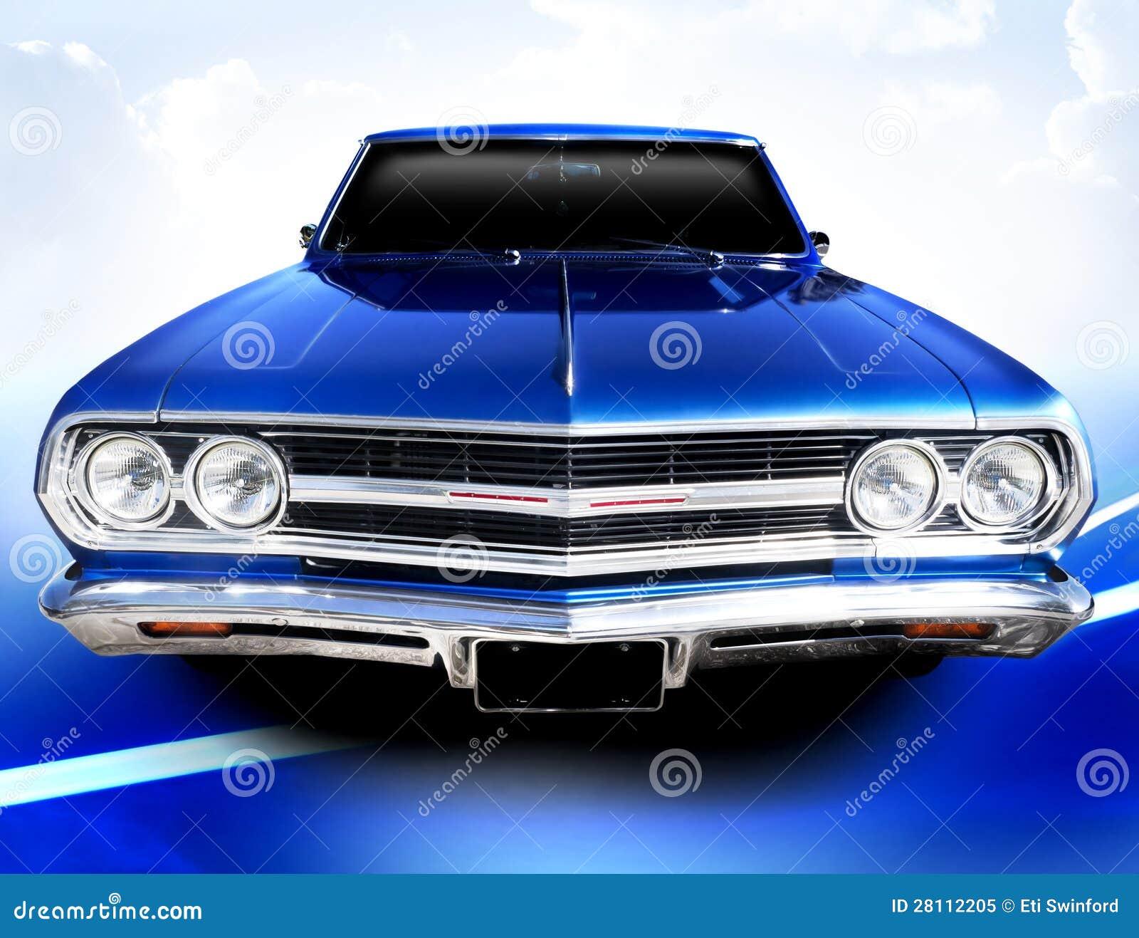 blue car classic