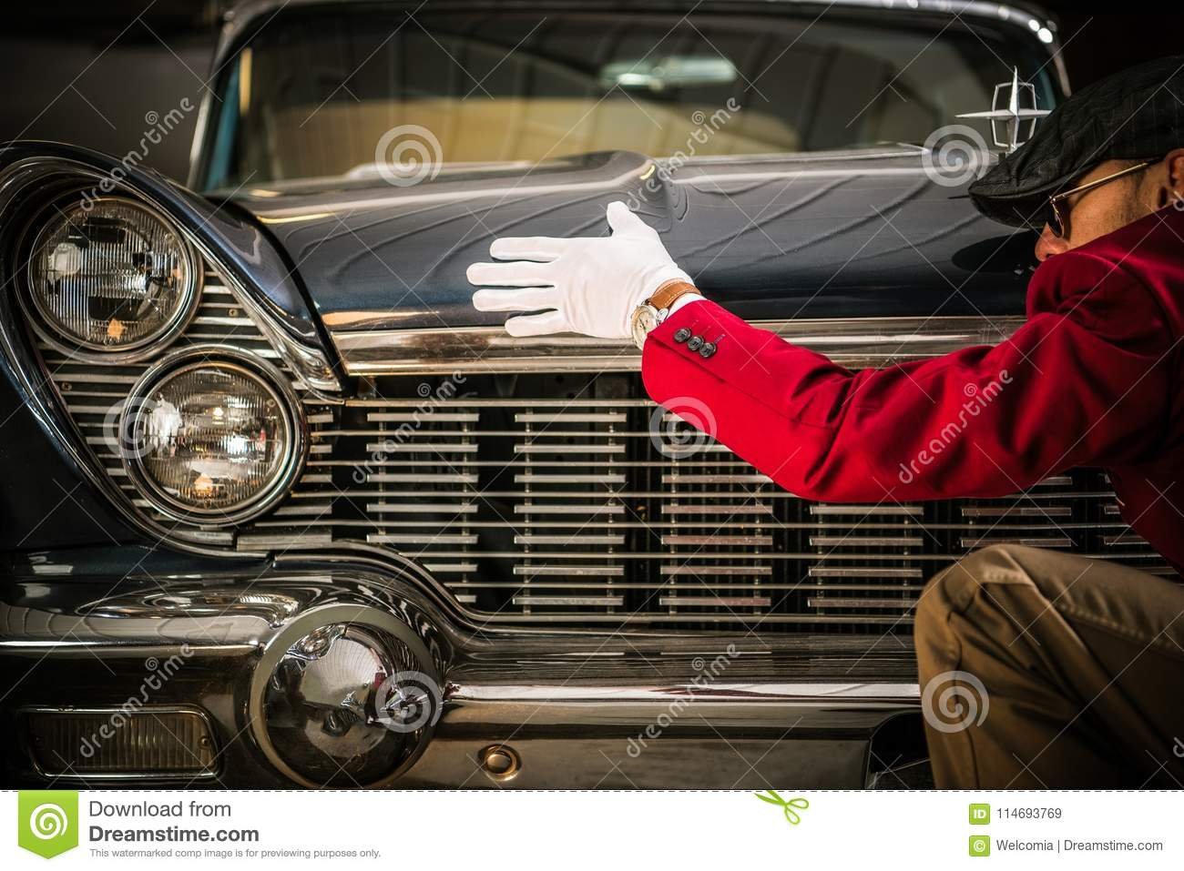 Classic Car Appraisal stock image. Image of hobby, vehicle - 114693769