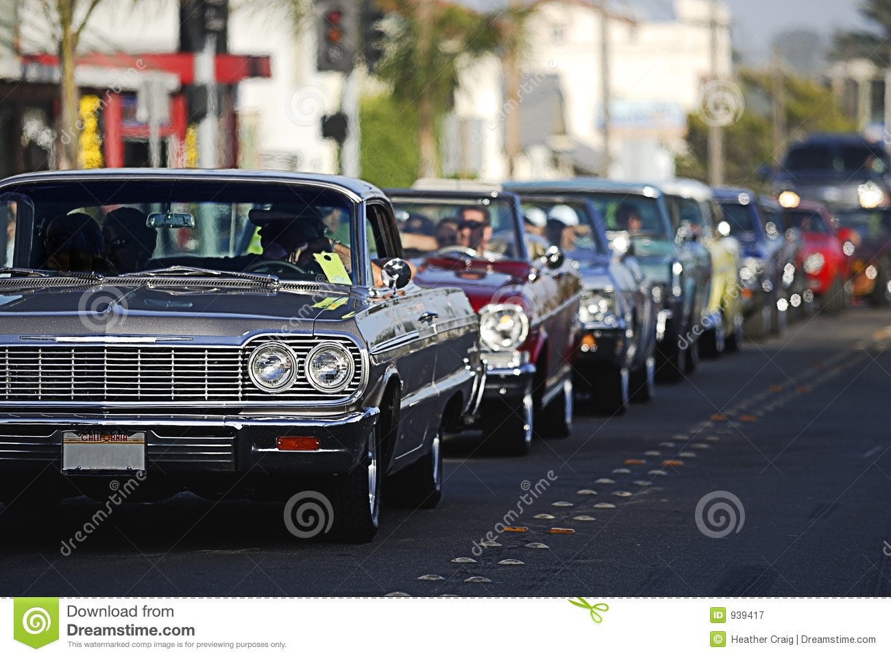 Classic Car Cruising 2 stock image. Image of antique, headlamp - 939417