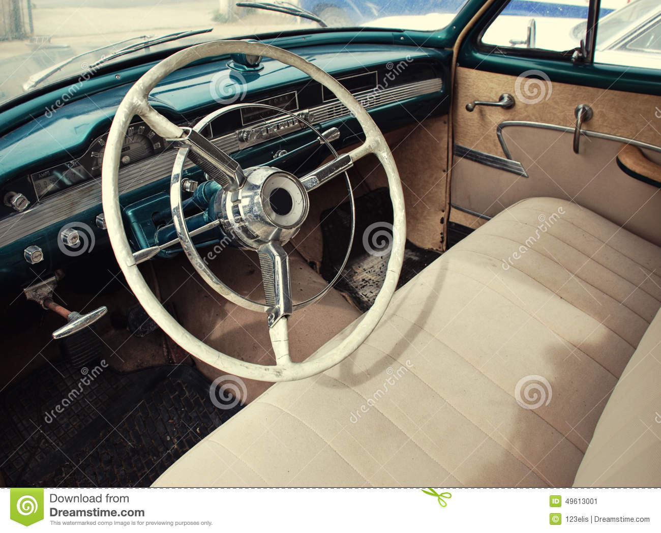 classic car dashboard stock image image of culture steering 49613001. Black Bedroom Furniture Sets. Home Design Ideas