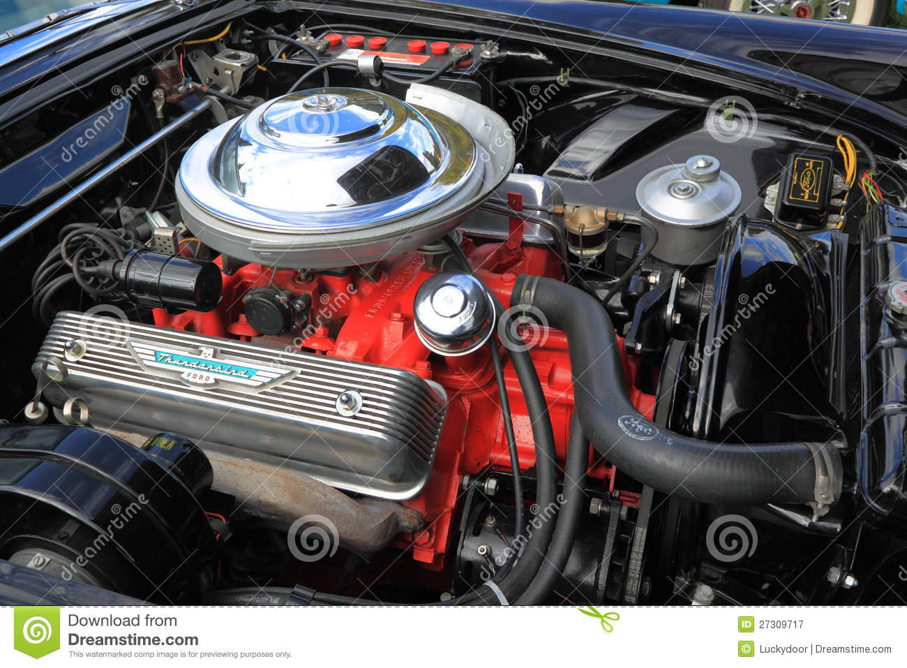 Classic Car Engine Compartment Editorial Photography Image Of