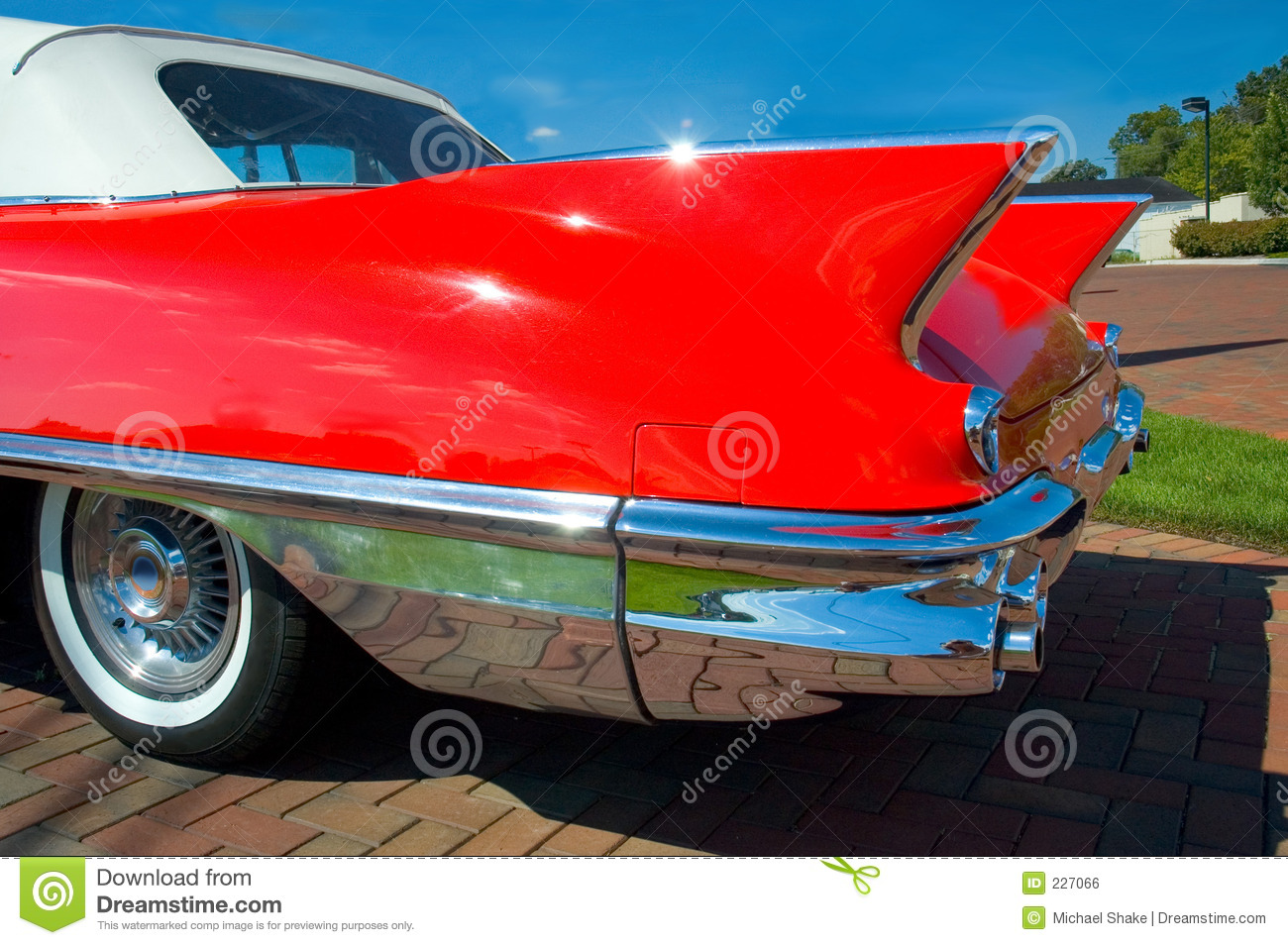 Classic Car Fins Royalty Free Stock Image Image