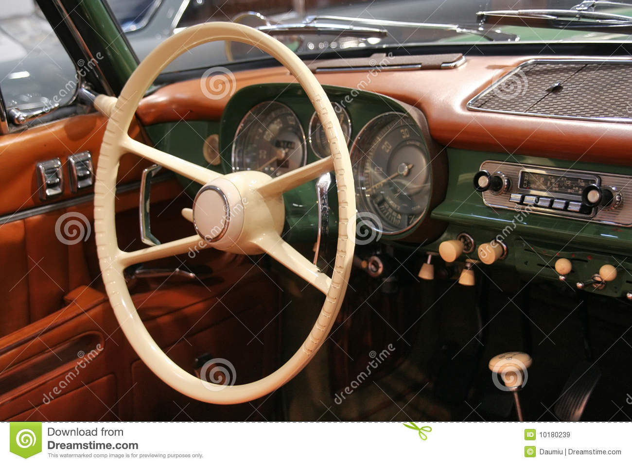 Classic Car Interior Stock Image Image Of Leather