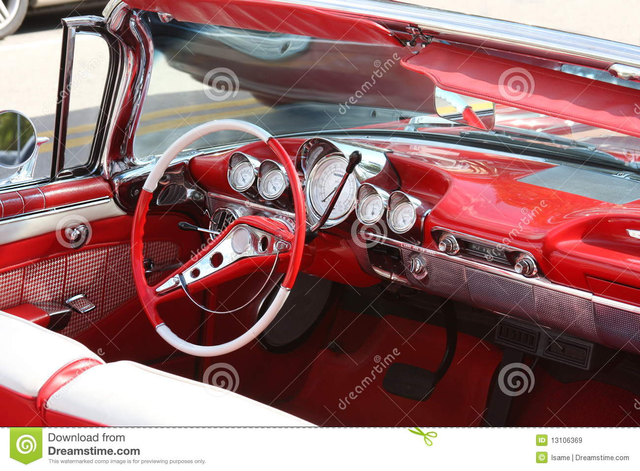 classic car interior royalty free stock images image 13106369. Black Bedroom Furniture Sets. Home Design Ideas