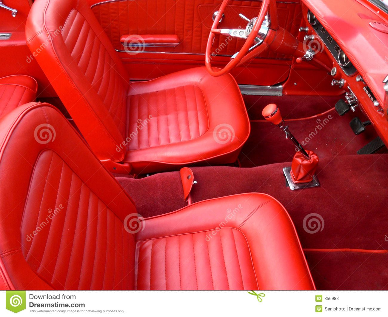 Classic Car Interior Stock Photos Image 856983