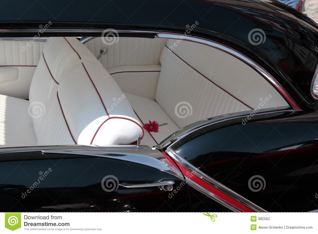 classic car interior stock photo image of refurbish paint 982562. Black Bedroom Furniture Sets. Home Design Ideas