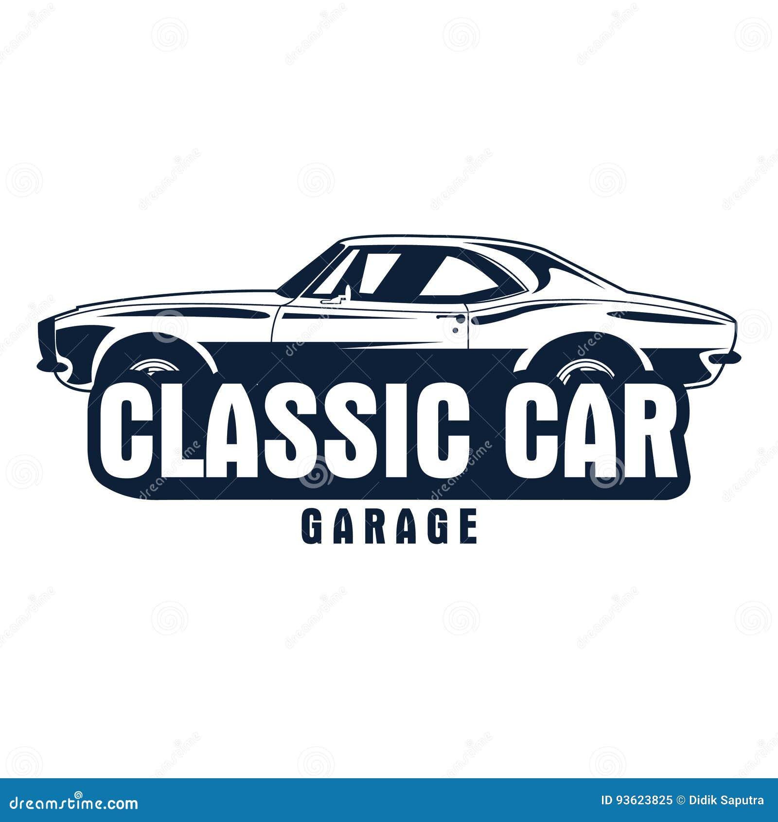 Classic Car Logo Stock Vector. Illustration Of Letter