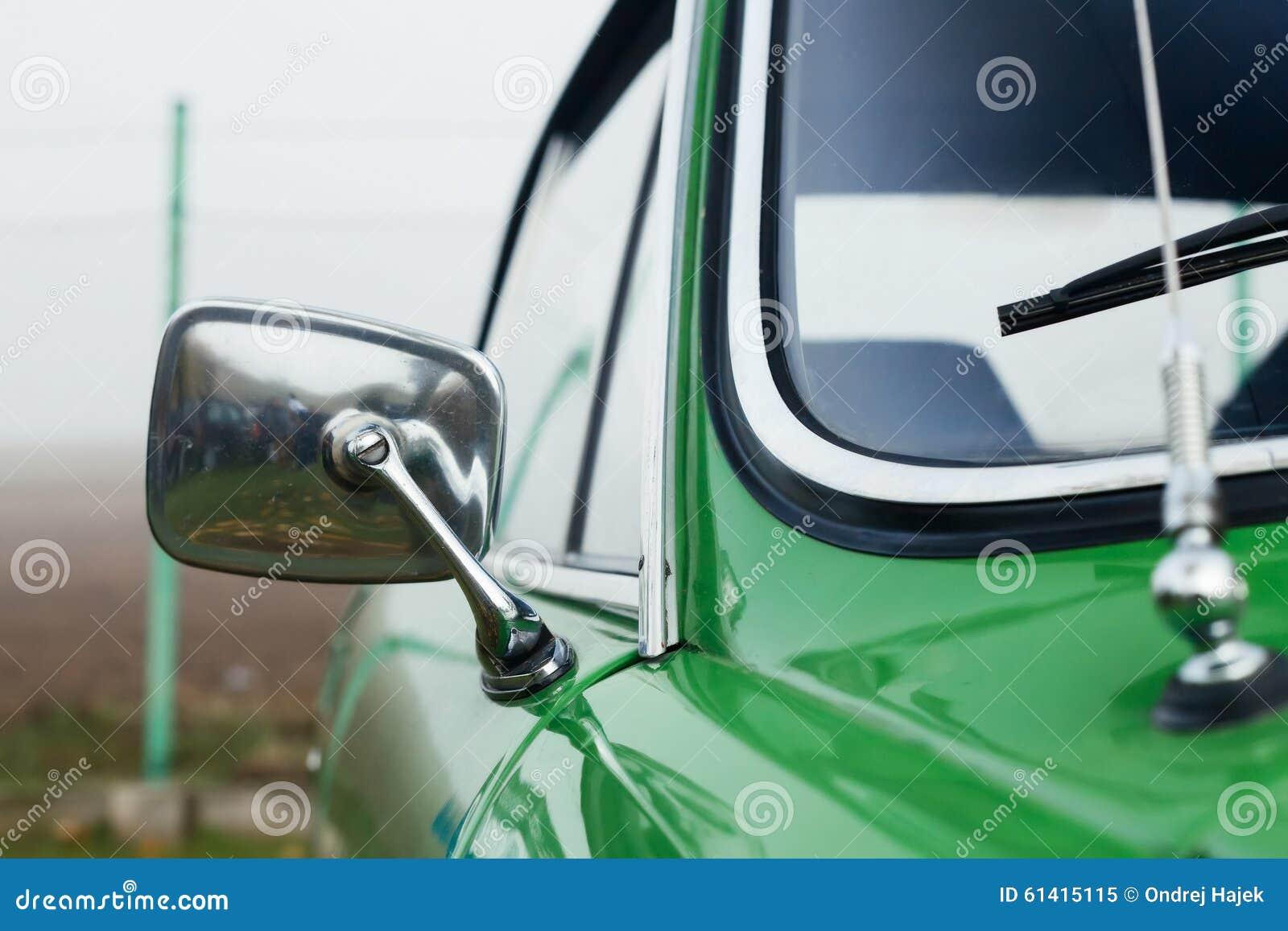 Vintage Classic Car Chrome Mirror Royalty Free Stock Photo