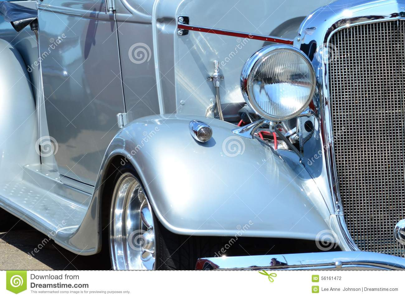 Vintage Auto Headlight Styles : Classic car mob style silver headlight and grill stock