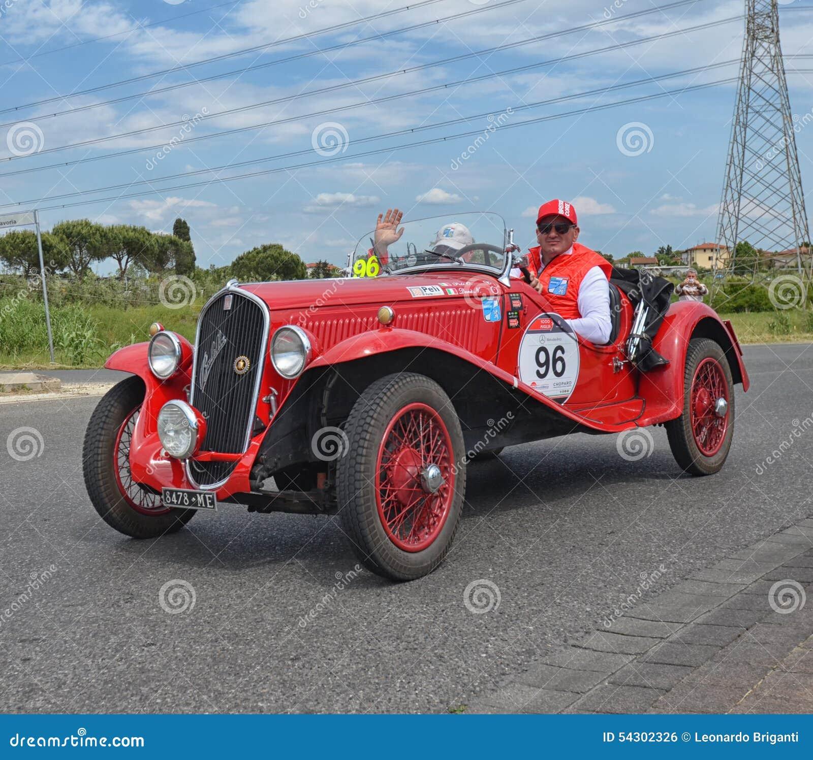 car race vintage italian