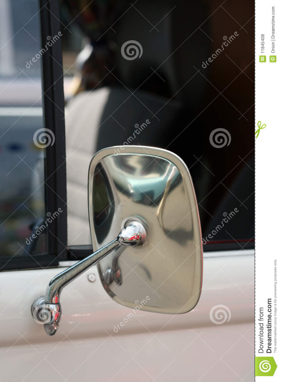 classic car rear view mirror stock photo image 11845408. Black Bedroom Furniture Sets. Home Design Ideas