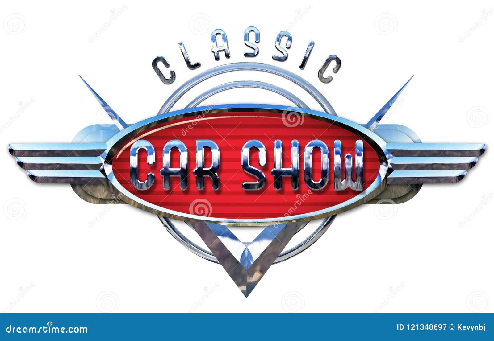 Classic Car Show Logo Chrome