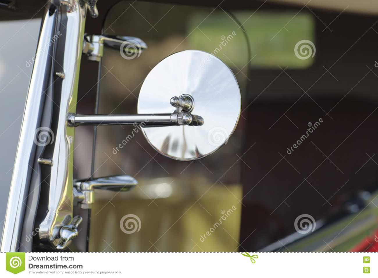 Classic Car Side Mirror Stock Image Image Of Show Rich