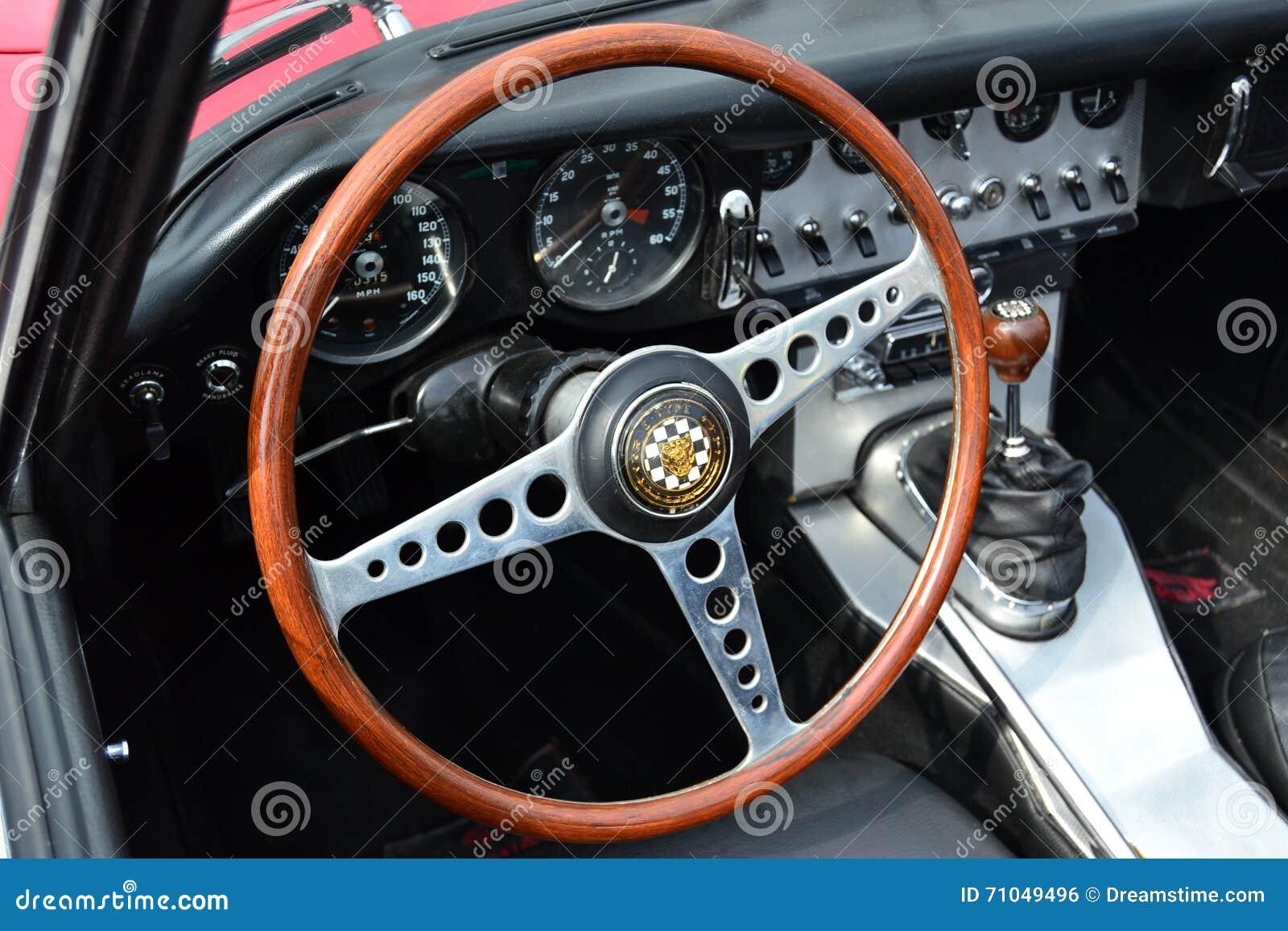 Classic Car Steering Wheel Stock Photo Image 71049496