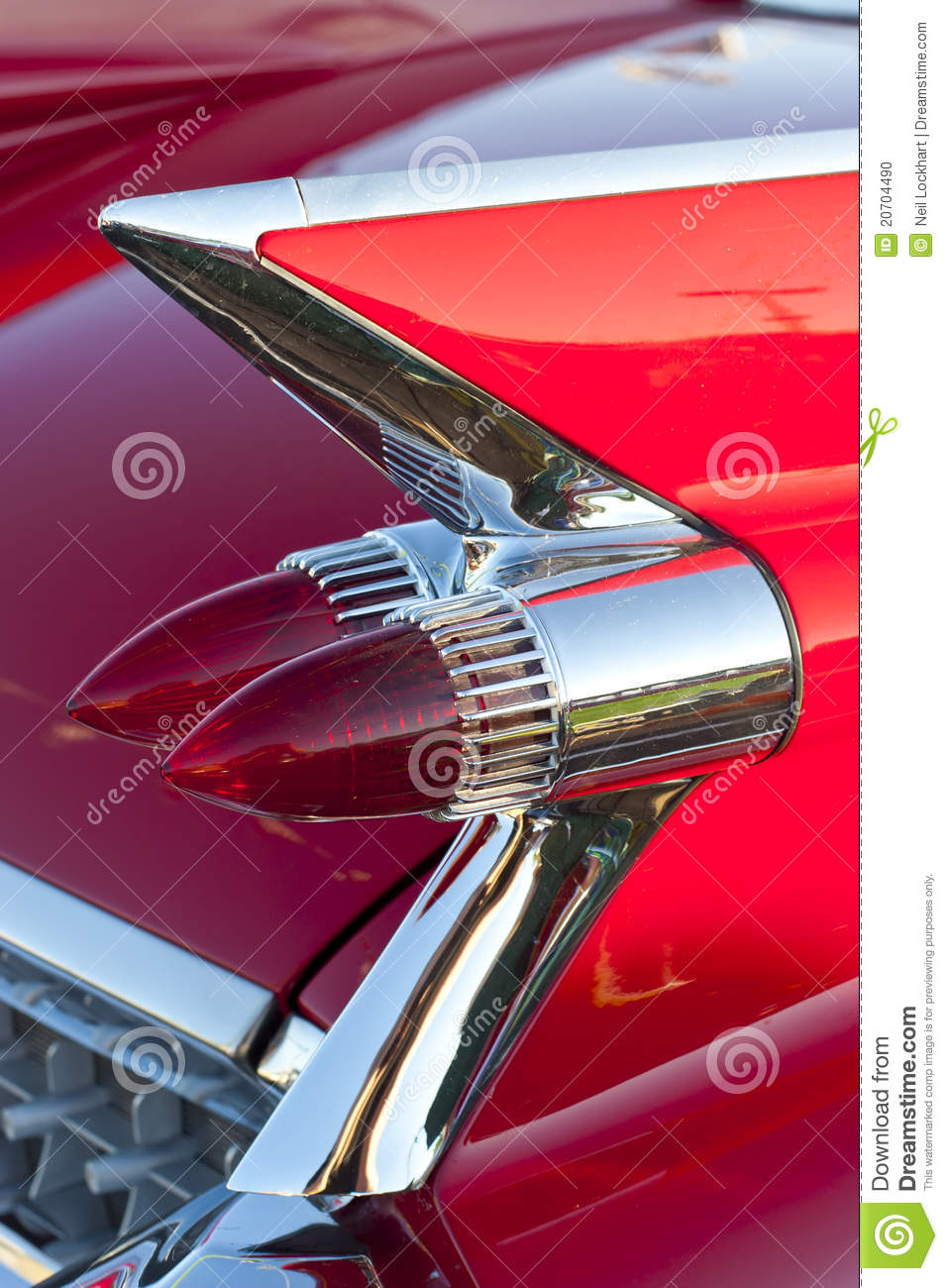 Classic Car Tail Lights Stock Photos - Royalty Free Images