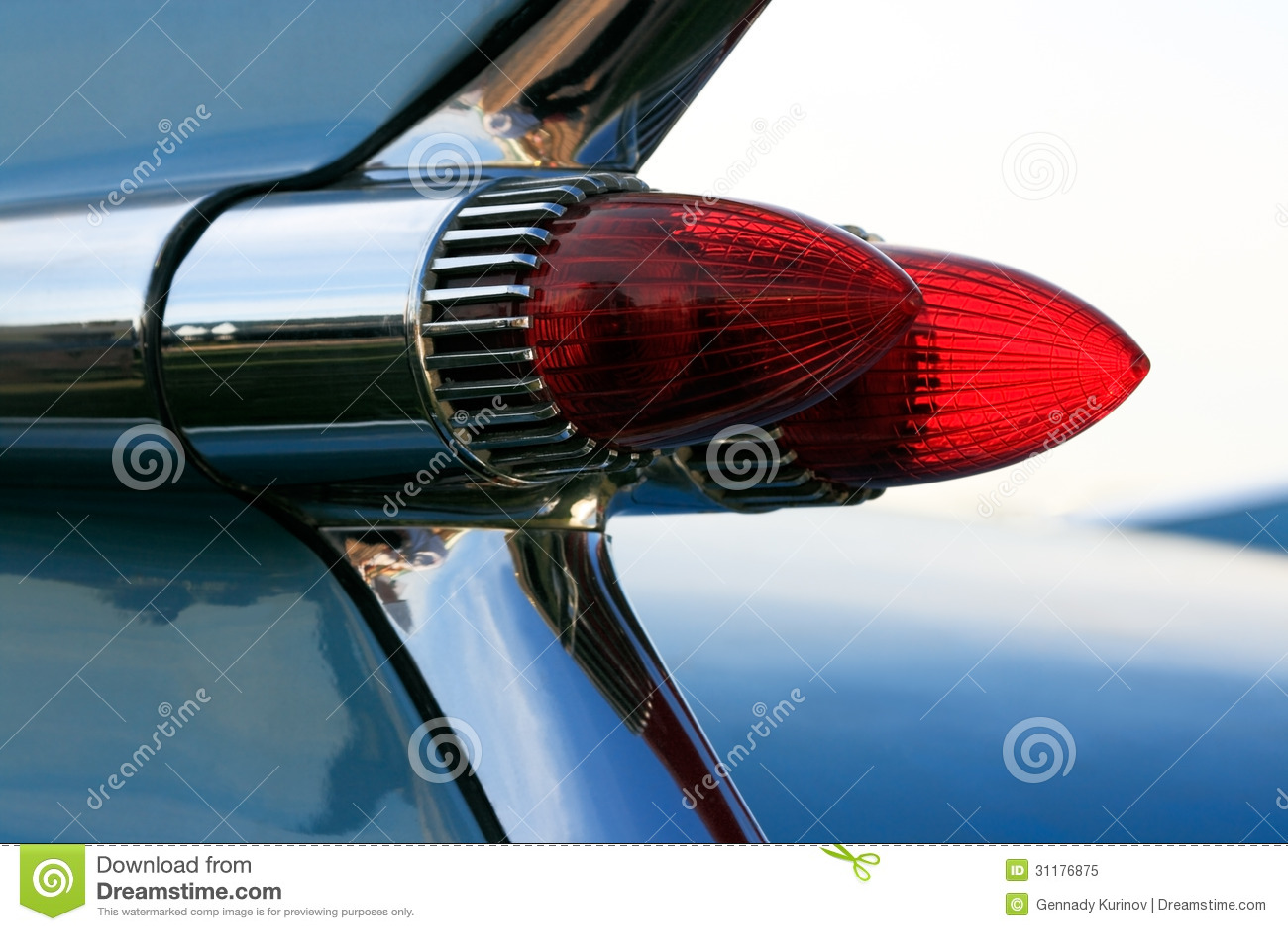 Vintage Auto Headlight Styles : Classic car tail lights royalty free stock photo image