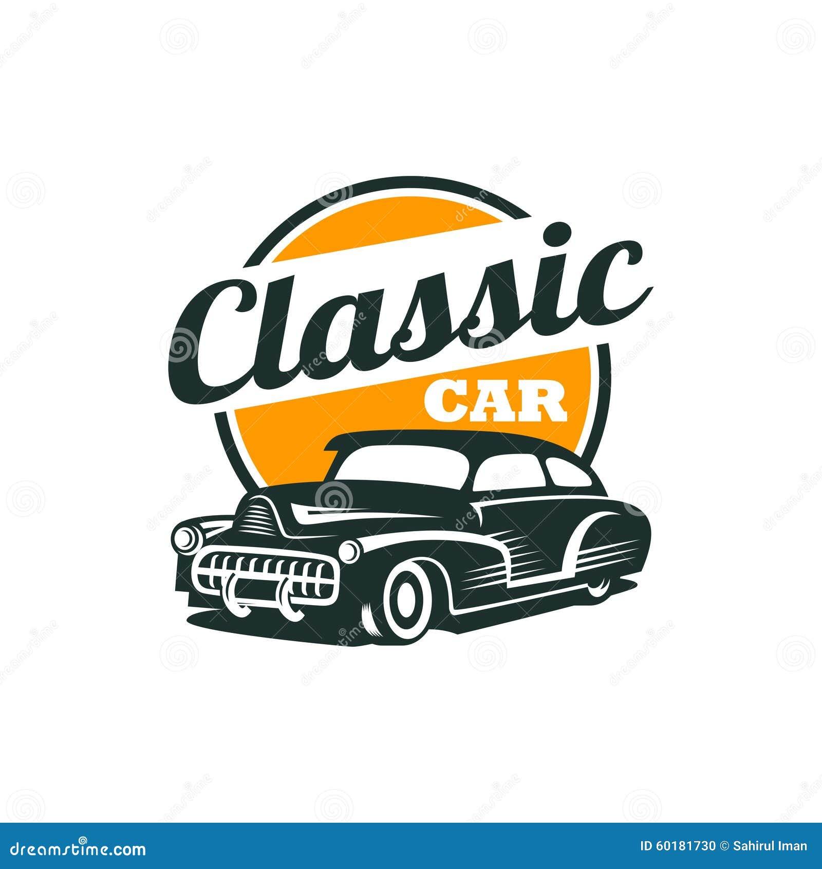 classic car vector template stock vector illustration of retro rh dreamstime com muscle car logo t shirts muscle car logo vector
