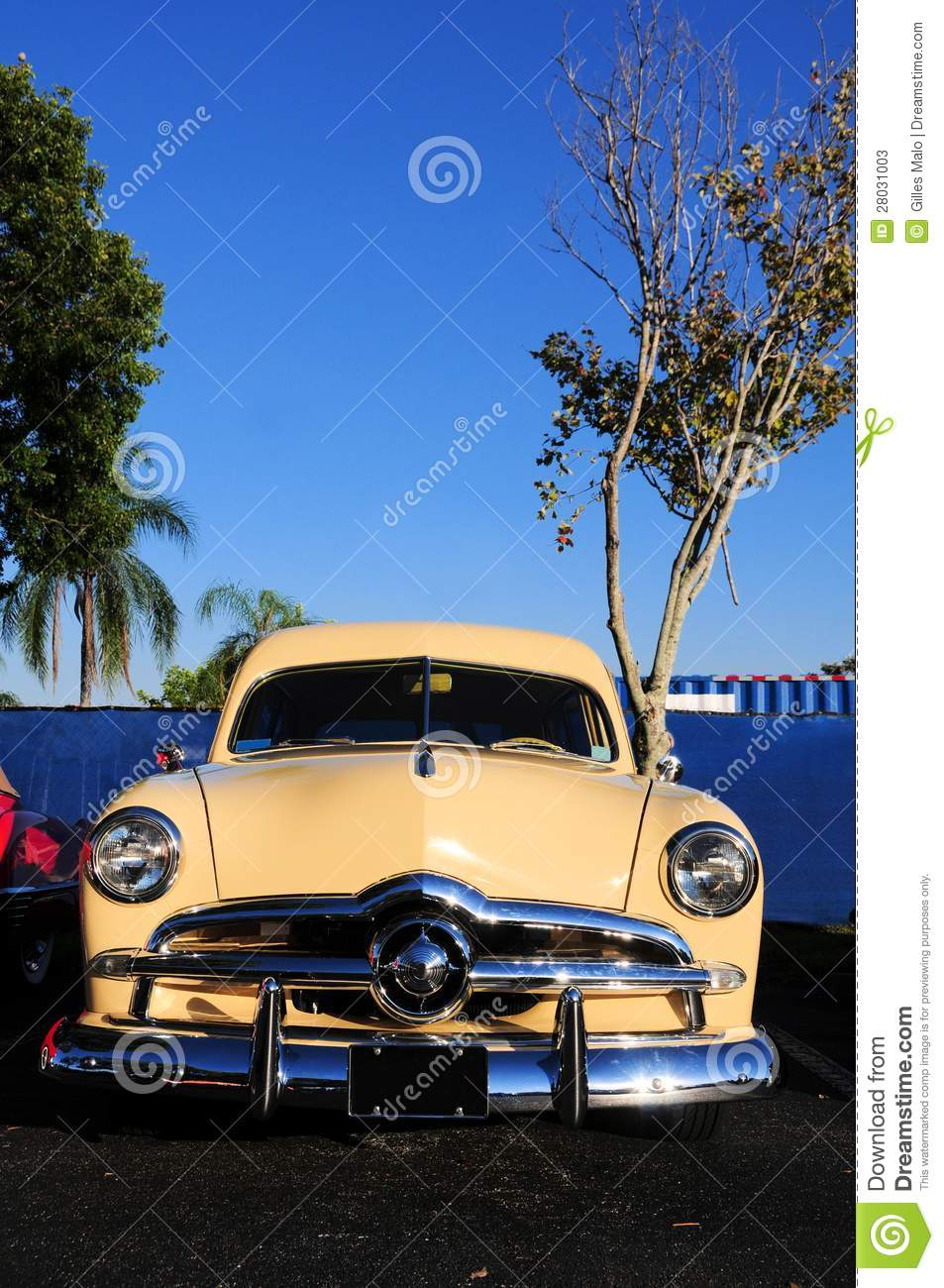 Classic car (vertical) stock image. Image of relic, autos ...