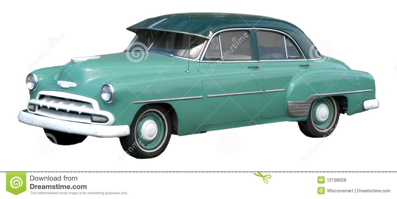 Classic Car, Vintage Automobile Isolated Stock Photo - Image of auto ...