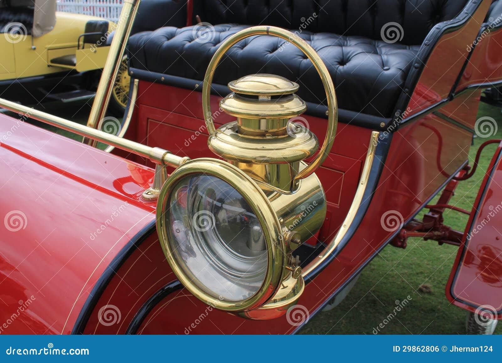 Antique Automobile Headlamps : S classic american car vintage headlamp royalty free