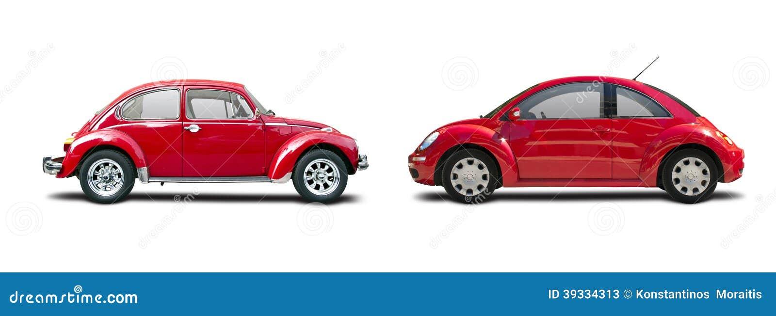 classic car vs new car stock photo image 39334313. Black Bedroom Furniture Sets. Home Design Ideas