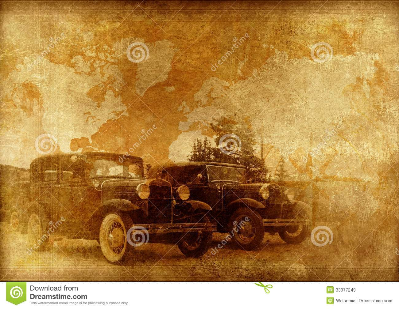 Classic Cars Background Royalty Free Stock Images Image