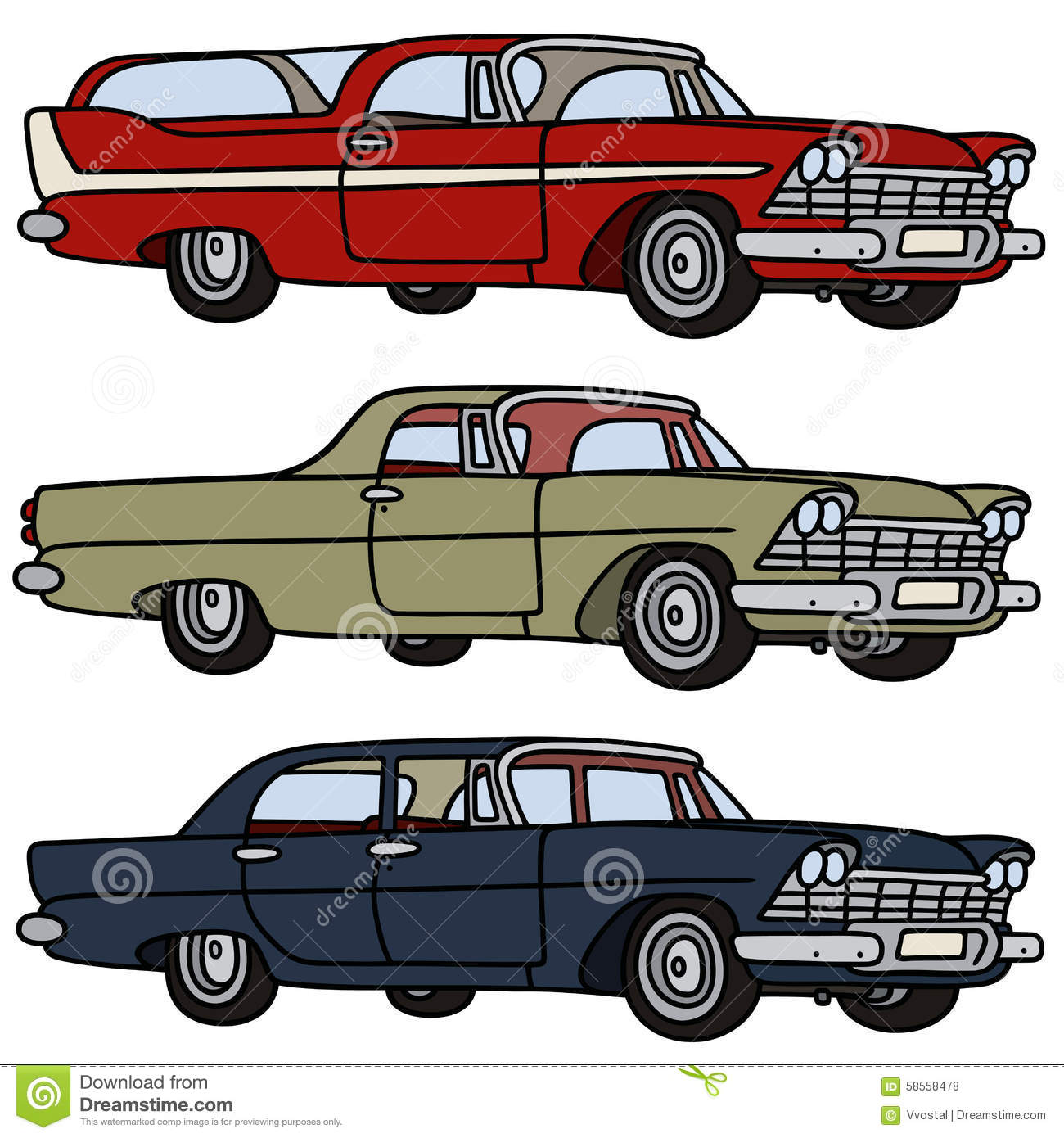 Classic cars stock vector image 58558478 for American classic realty
