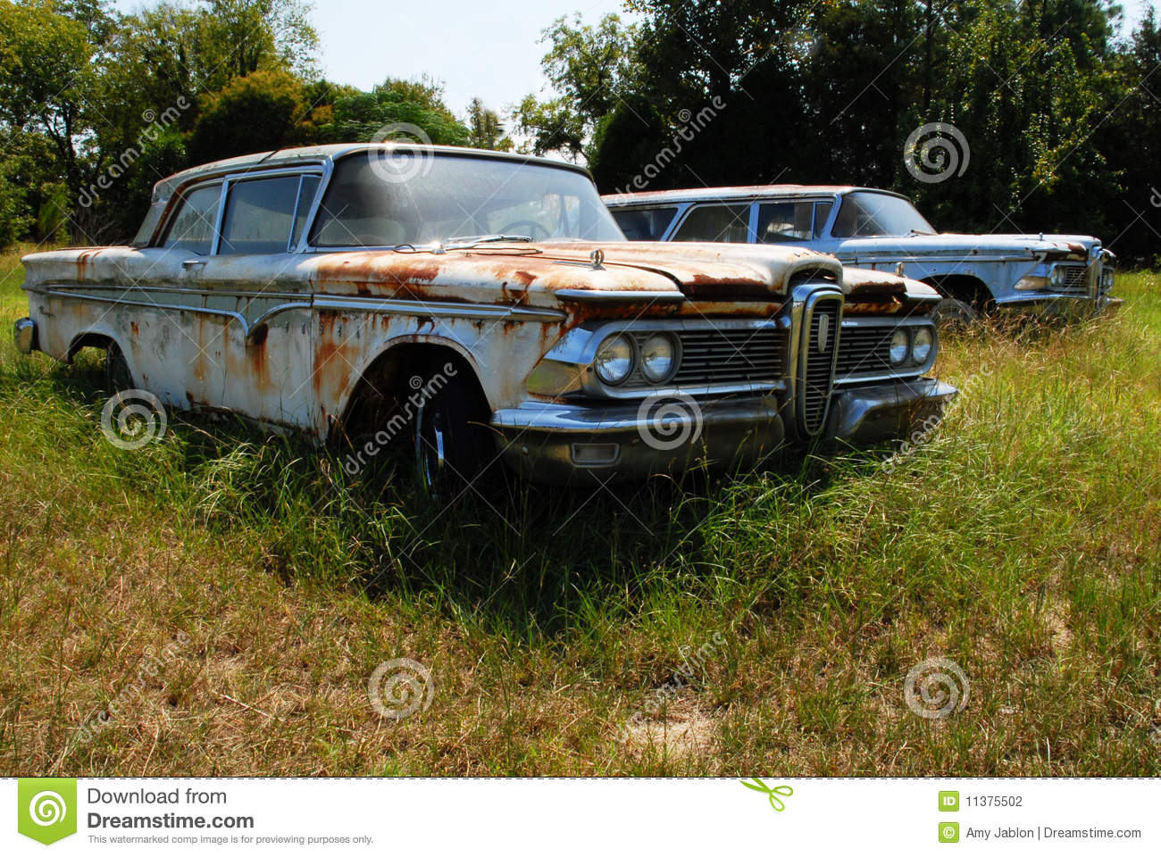 Classic Cars Rust Field Stock Photos - Royalty Free Images