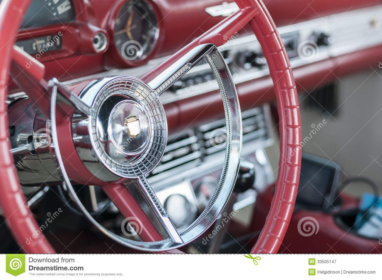 Classic Cars Steering Wheel Stock Image - Image of device, black ...