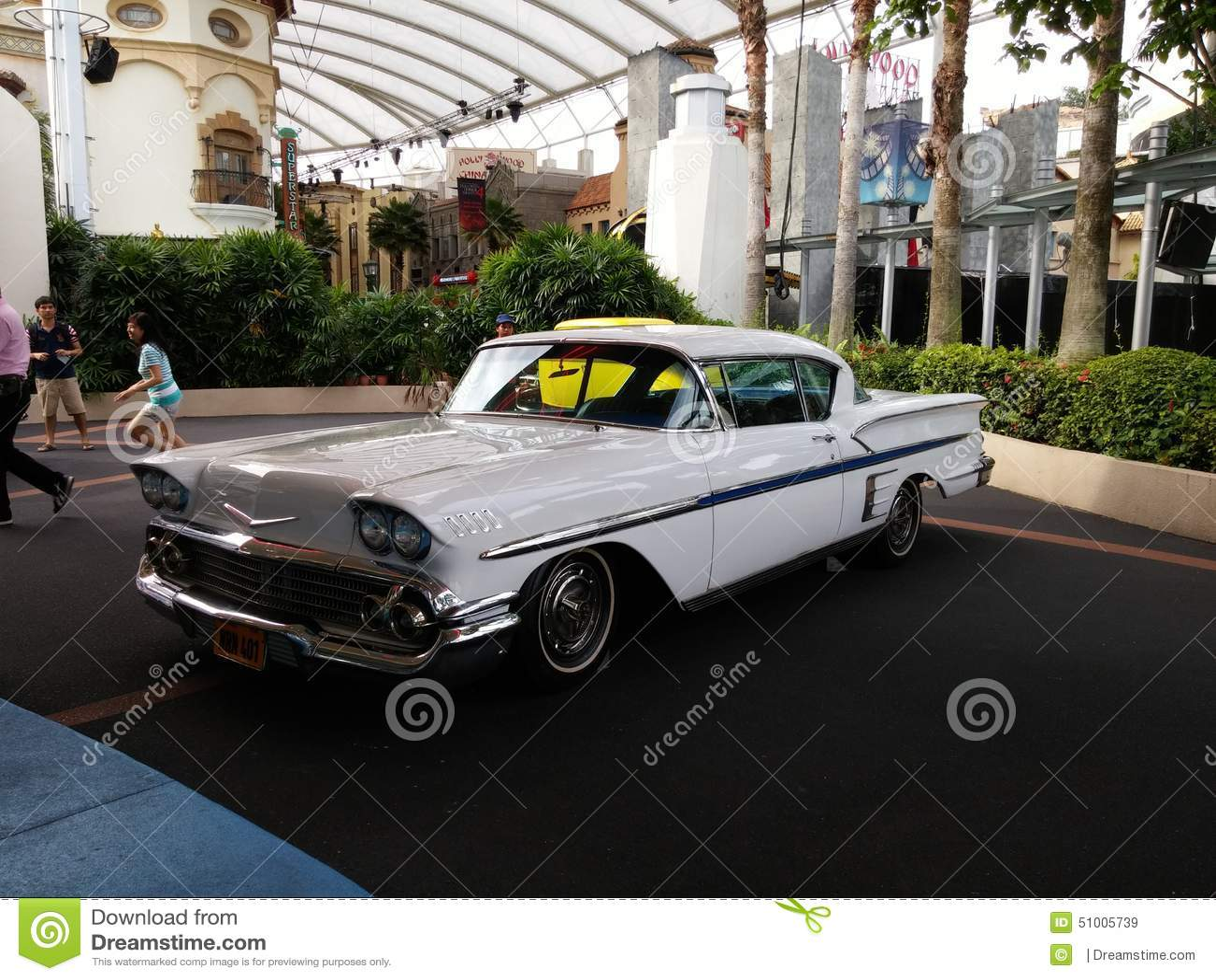 Classic Cars At Universal Studios Editorial Stock Image Image