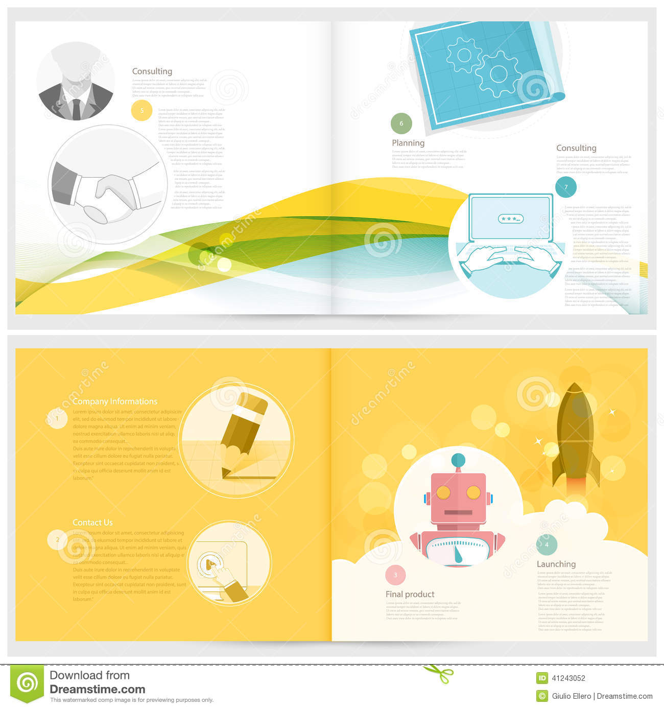 Classic case study booklet brochure design template for for Booklet brochure template