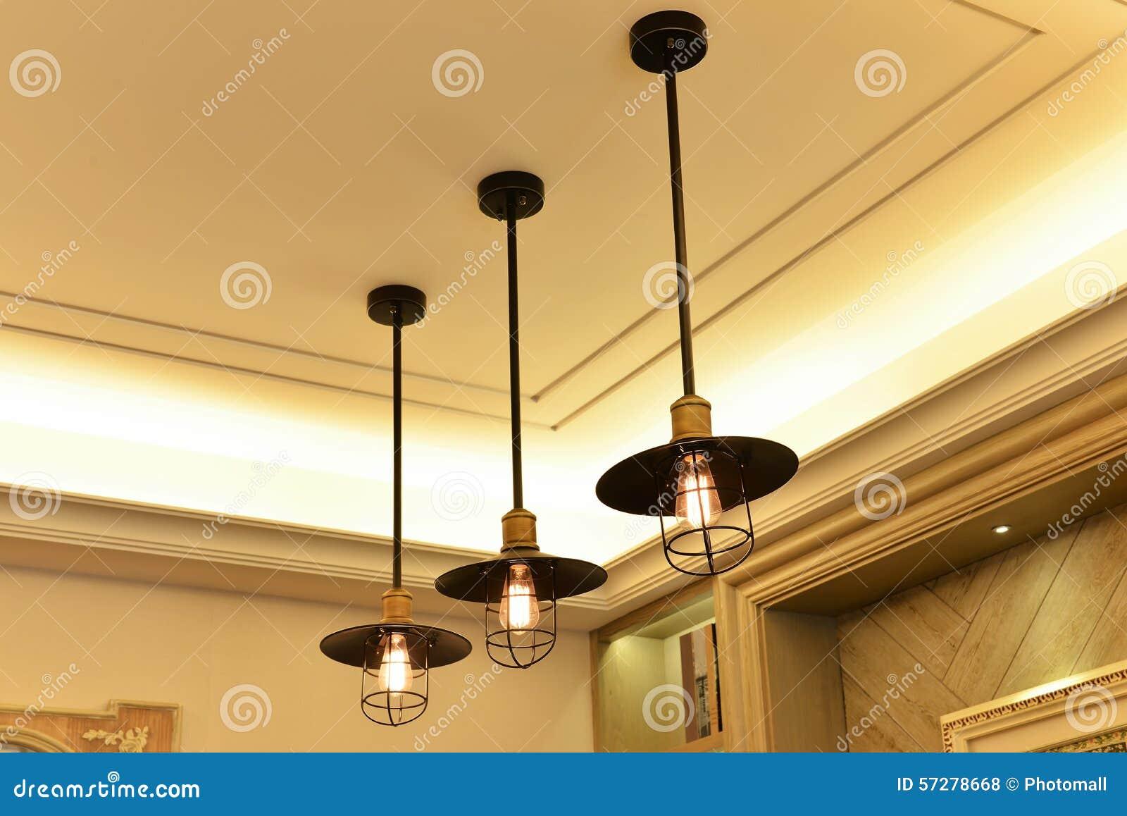 Classic Ceiling Light Stock Photo