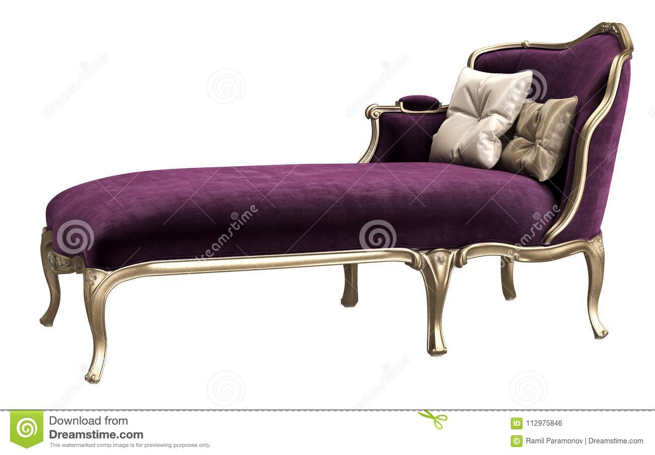 Classic Chaise Longue Isolated On White Background Stock Illustration Illustration Of Seat Baroque 112975846