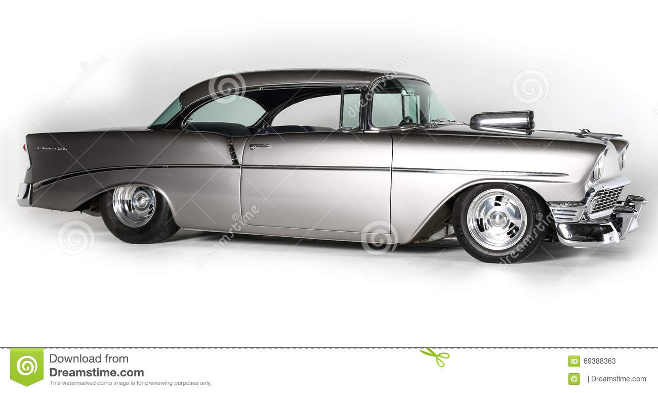 Classic Chevrolet Coup Car On White Background Isolated