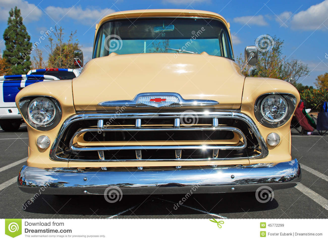 classic 1957 chevrolet pick up truck editorial stock image