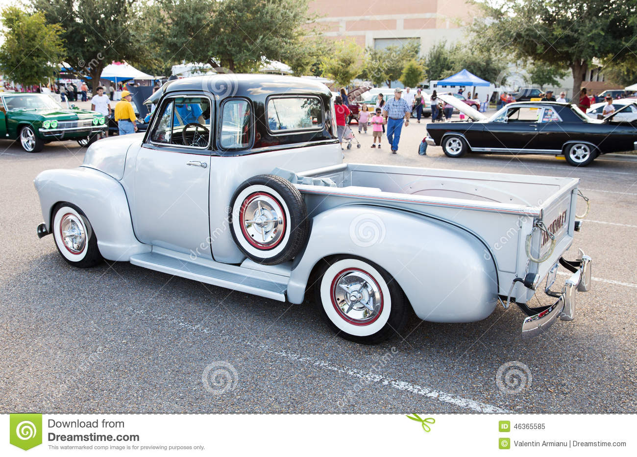 Classic Chevrolet Pickup Truck Editorial Image Image Of Wheels - Mcallen car show