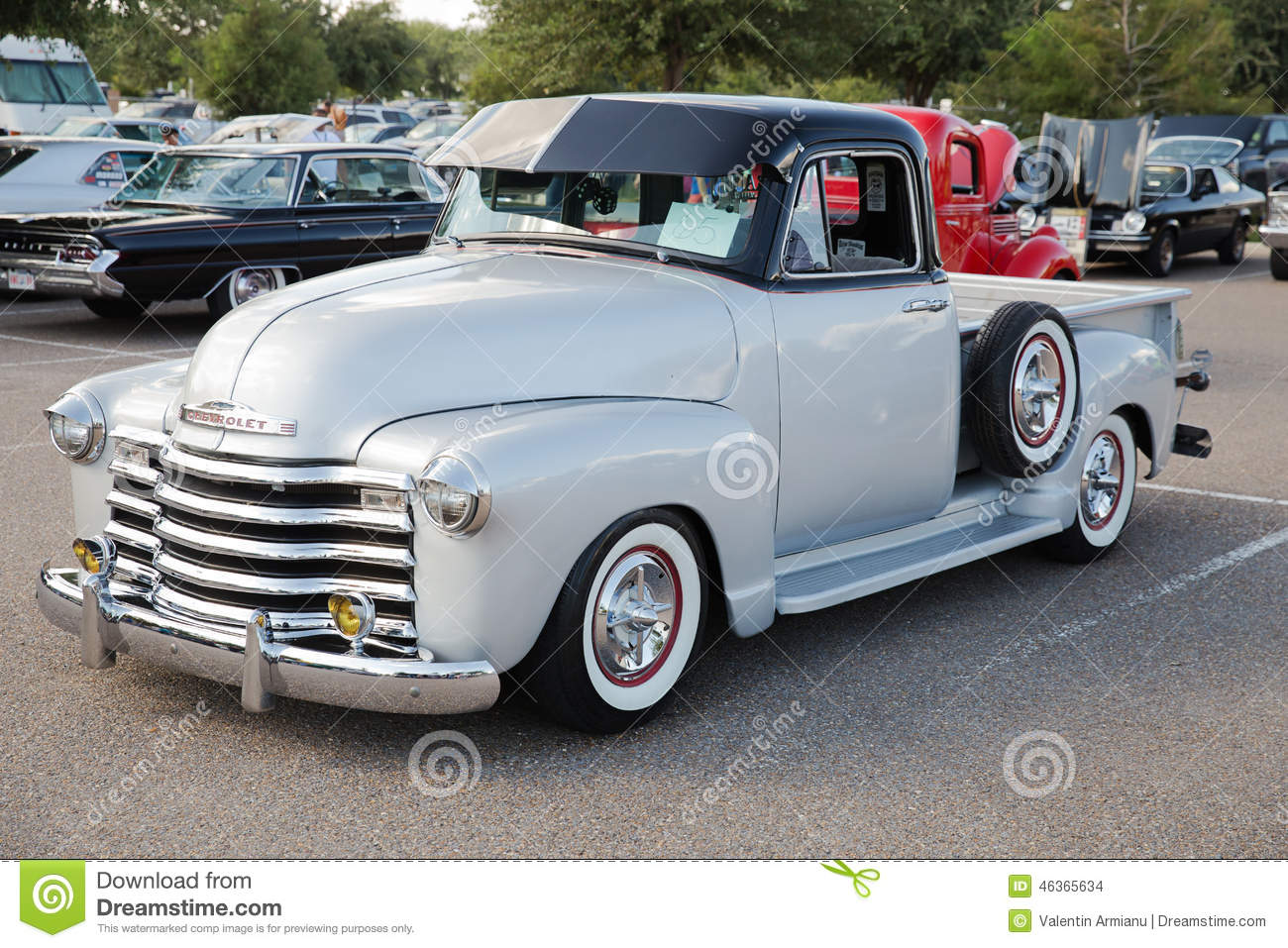 Classic Chevrolet Pickup Truck Editorial Stock Image Image Of - Mcallen car show