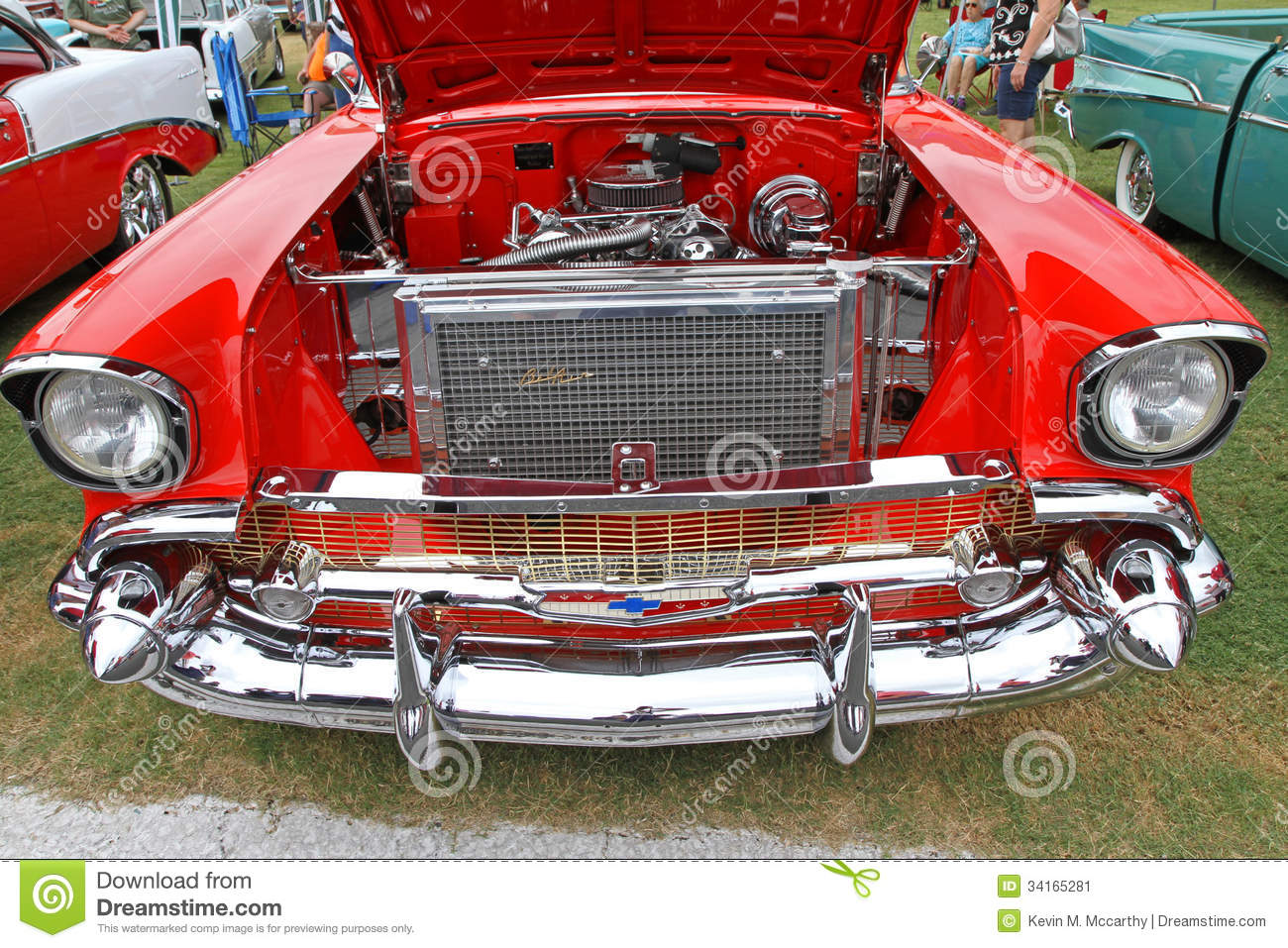 Classic 1957 Chevy Automobile Editorial Photo - Image ...