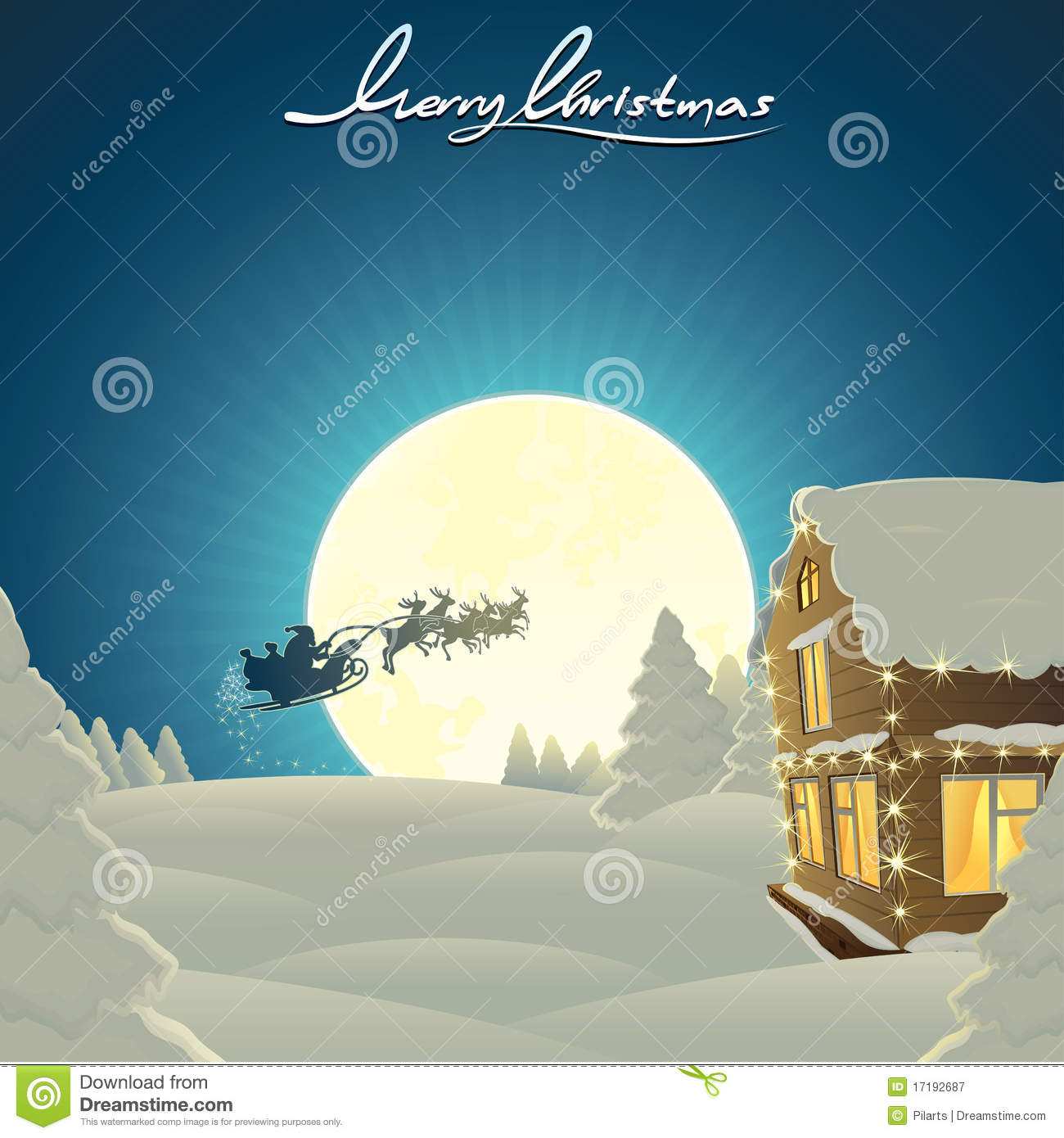 Classic christmas card stock vector illustration of decoration classic christmas card m4hsunfo