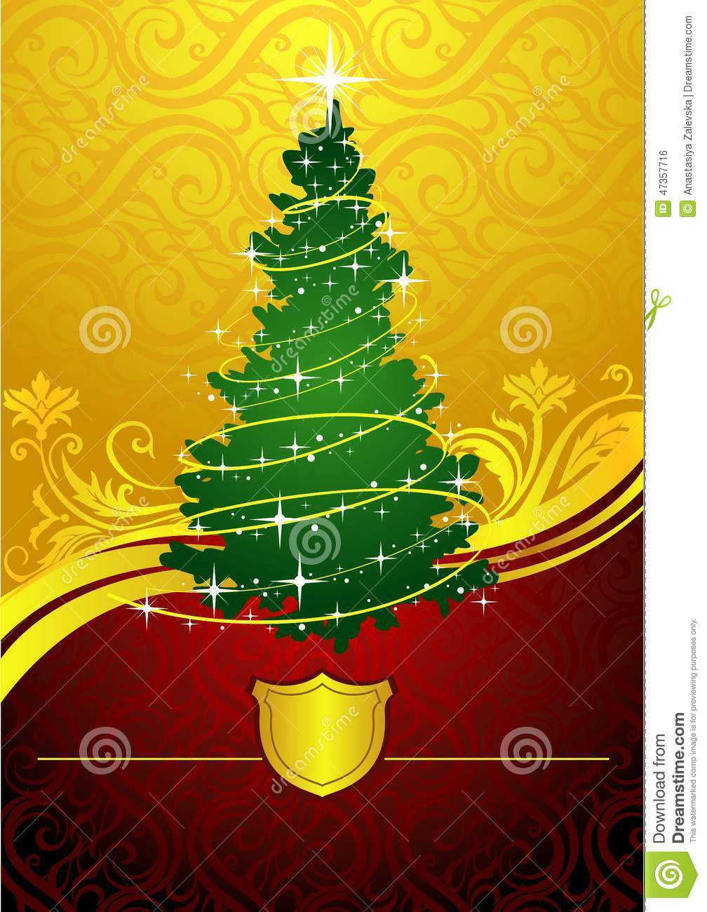 Classic Christmas Tree Stock Vector Illustration Of Abstract 47357716