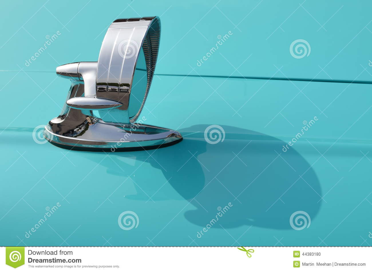 Classic Chrome Car Wing Mirror Stock Photo Image 44383180