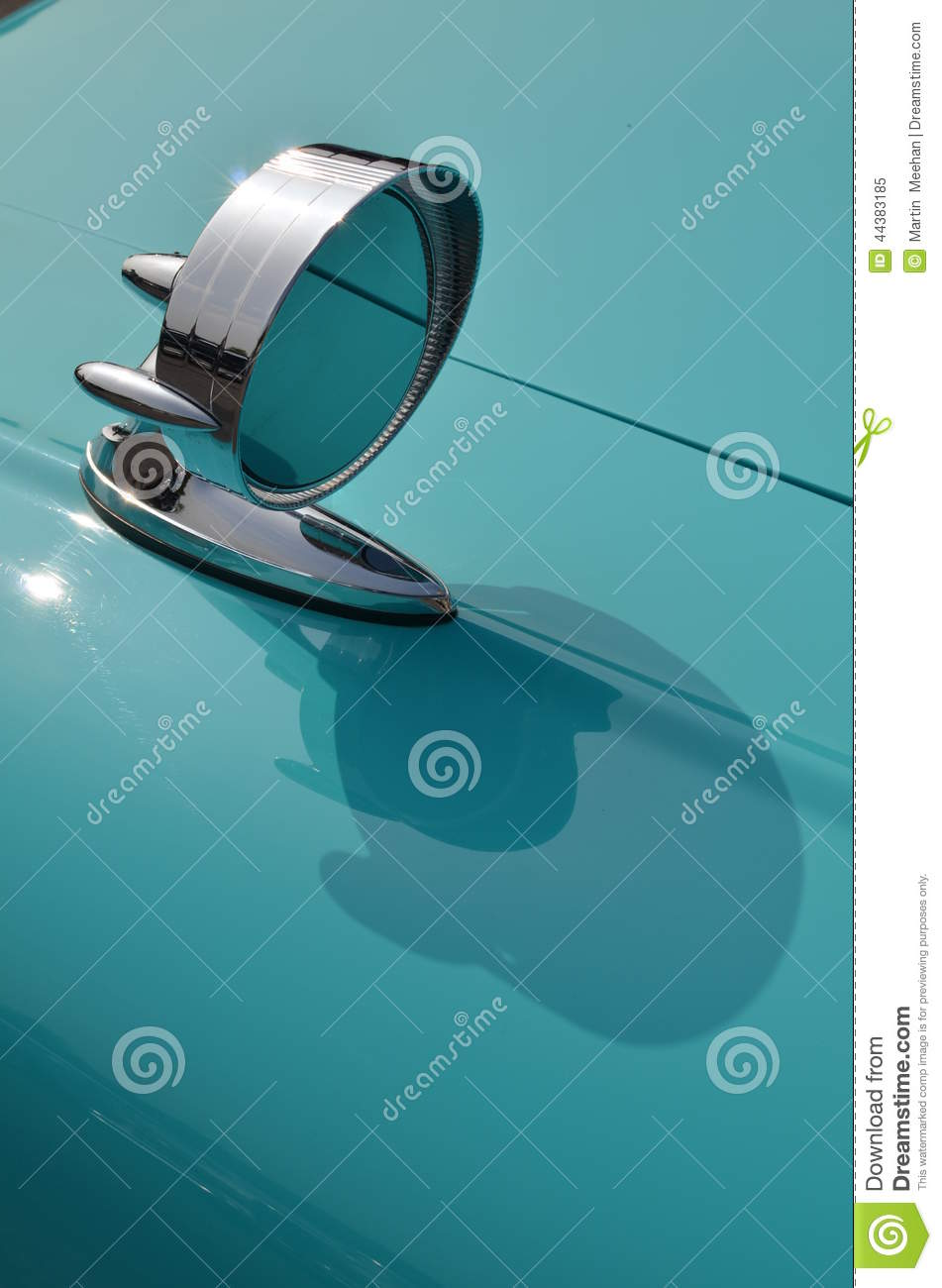 Classic Chrome Car Wing Mirror Stock Photo Image 44383185