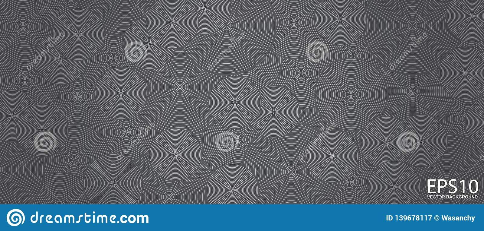 Classic circle line vector pattern background