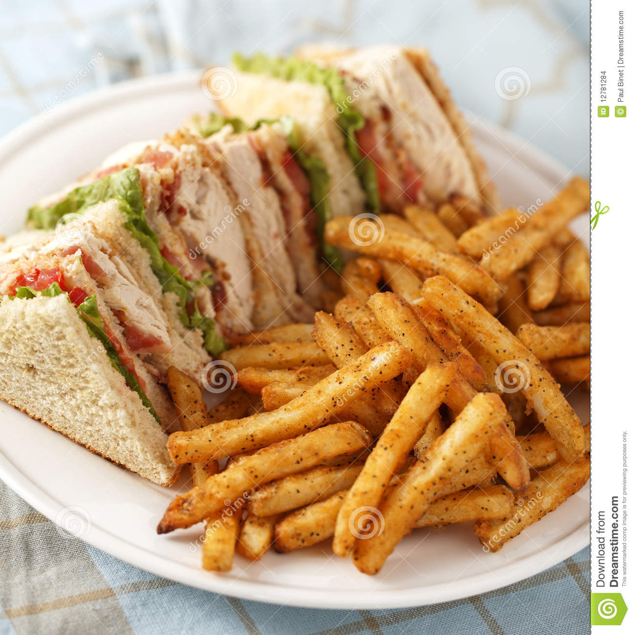 Classic Club Sandwich Stock Images - Image: 12781284